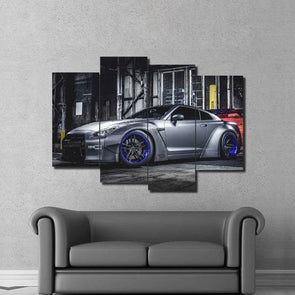 Customized Nissan Skyline - 4 Panel Canvas Art Set