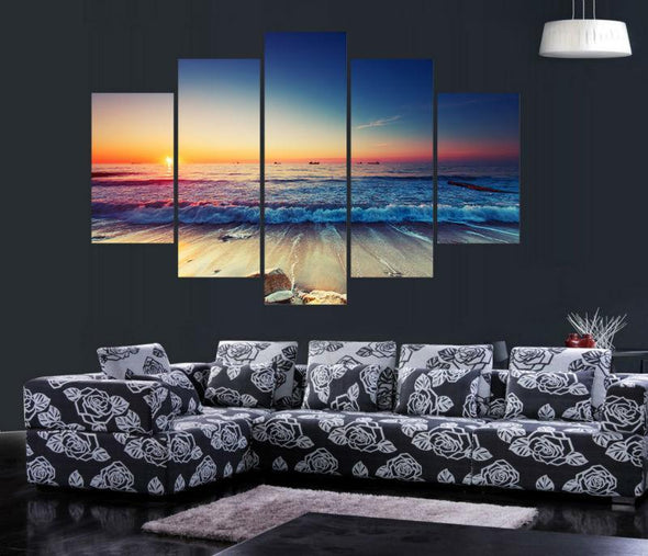 Far Off Ships - 5 Panel Canvas Art Set