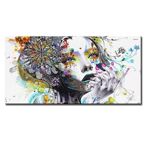 Flower Girl Canvas Art Print