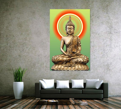 Golden Buddha Canvas Art Print