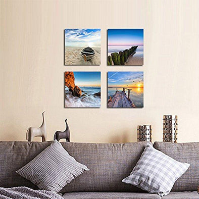 Ocean Pics - 4 Panel Canvas Art Set