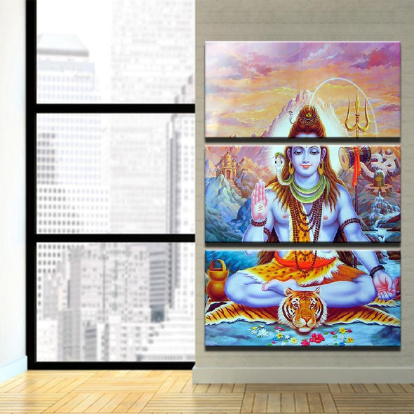 Shiva - 3 Panel Canvas Art Set