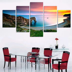 Sunset Arch - 5 Panel Canvas Art Set