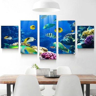 Tropical Fish - 5 Panel Canvas Art Set