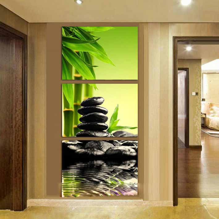 zen garden 3 panel canvas art set torsteinn home decor