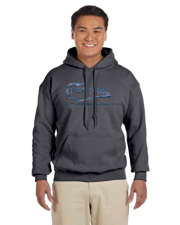 Fish Free Krypton - Gray Performance Fishing Apparel Men's Hoodie
