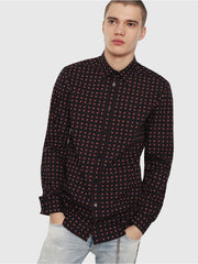 Diesel Mens S-Akura Shirt - Black/Red 900