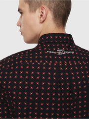 Mens S-Akura Shirt - Black/Red