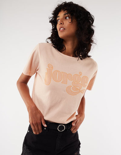 Jorge Farrah Tee Pink | Shop Jorge at IKON