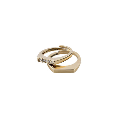Radiance Ring - Crystal/Gold Plated | Shop Pilgrim Jewellery, IKON NZ