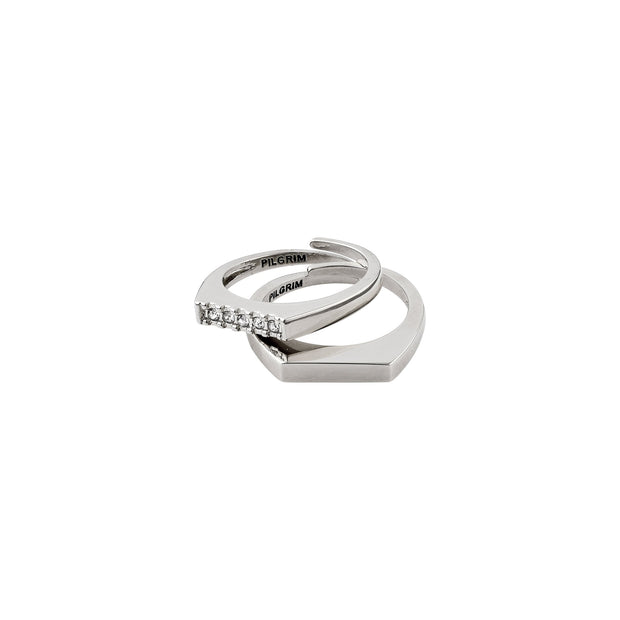 Radiance Ring - Crystal/Silver Plated | Shop Pilgrim Jewellery, IKON NZ