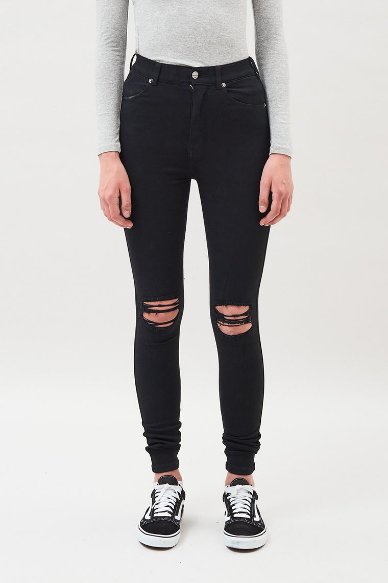Moxy Ripped Knee Jean - Black | Shop Dr Denim at IKON Arrowtown