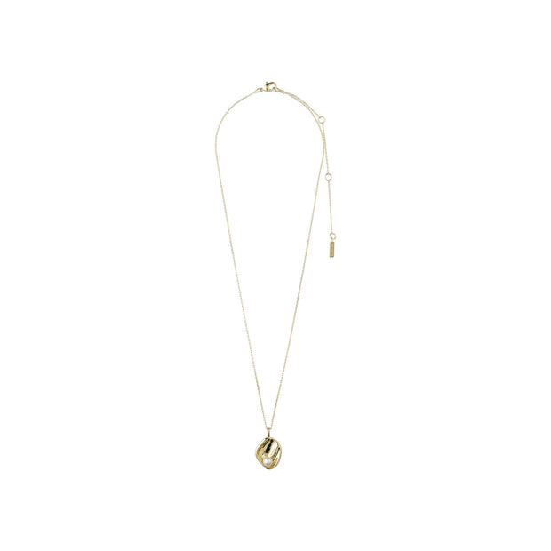 Warmth Necklace - White/Gold Plated