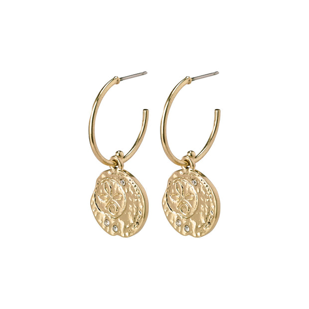 Warmth Earrings - Crystal/Gold Plated | Shop Pilgrim Jewellery, IKON NZ