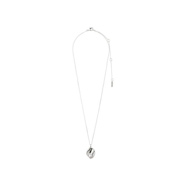 Warmth Necklace - White/Silver Plated