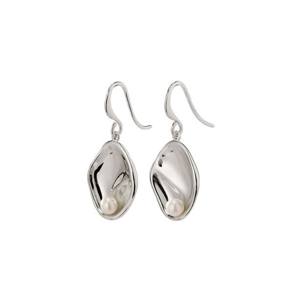Warmth Earrings - White/Silver | Shop Pilgrim Jewellery, IKON NZ