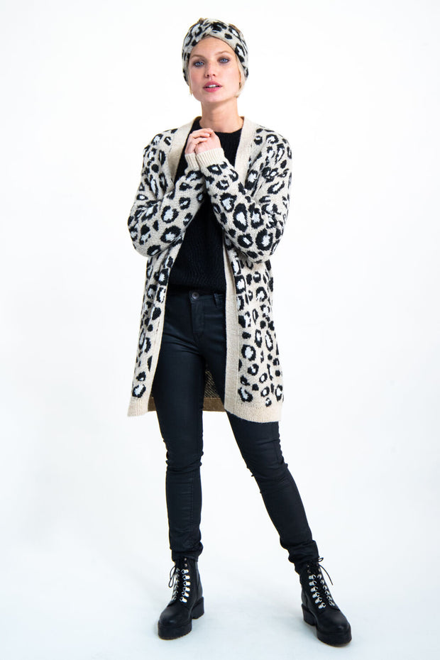 Womens Cardigan - Animal Print