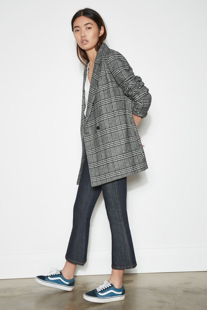 New Dawn Check Blazer - Black/White