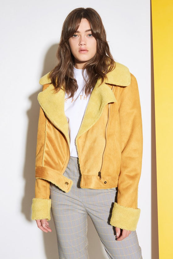 The Fifth Label Street Light biker Jacket - Mustard