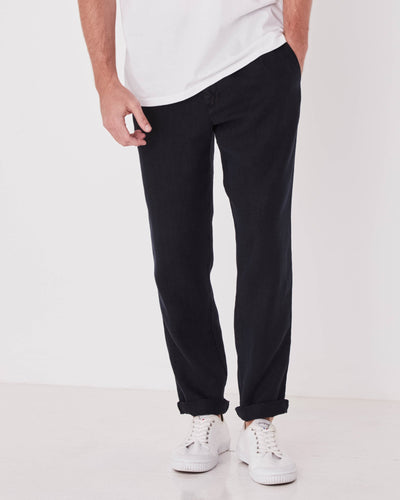 Federal Linen Pant - Black shop online or in store at IKON