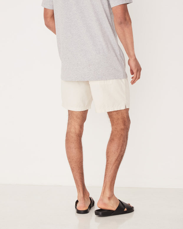 Mens Cotton Walkshort - Chalk White