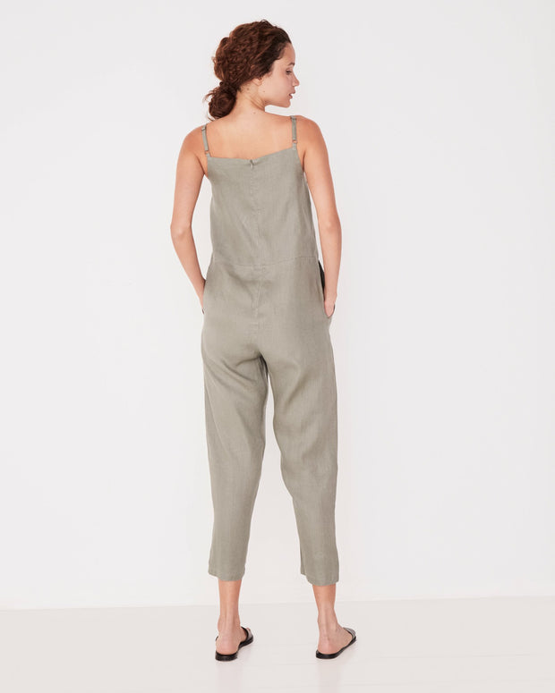 Pinafore Jumpsuit - Seagrass