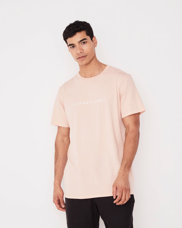 Mens Logo Tee Blush
