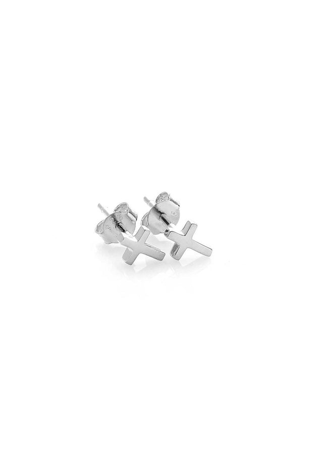 Tiny Stolen Cross Earring | Shop Stolen Girlfriend Jewellery at IKON N…