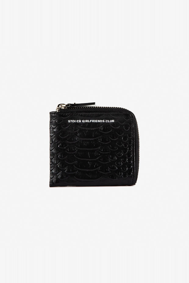 Zip Around Wallet - Black Snake
