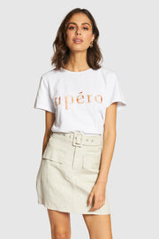 Marble Embroidered Femme Tee | Shop Apero The Label at IKON NZ