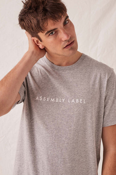 Mens Logo Tee - Grey Marle