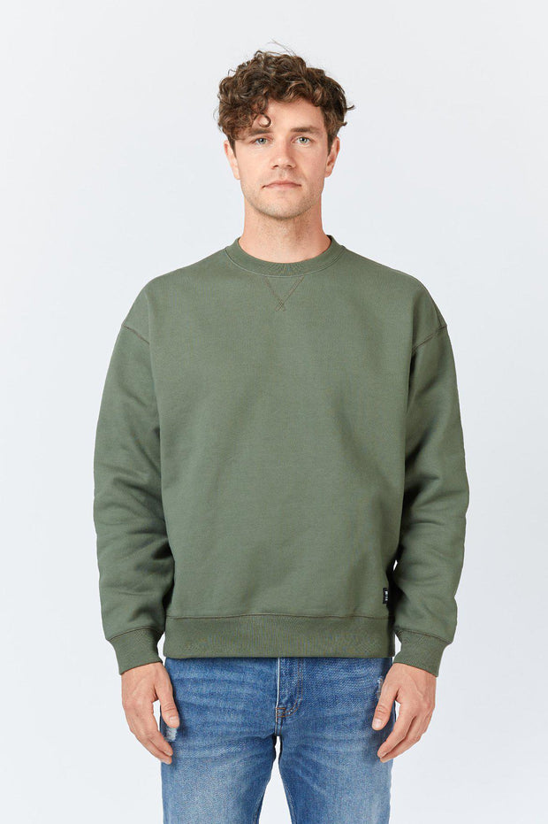 Mens Dario Sweater Dark Emerald | Shop Dr Denim at IKON NZ
