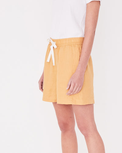 Ease Linen Short - Amber shop online or in store at IKON