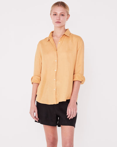 Xander Long Sleeve Shirt - Amber shop online or in store at IKON