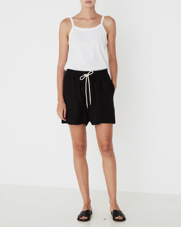 Ease Linen Short - Black