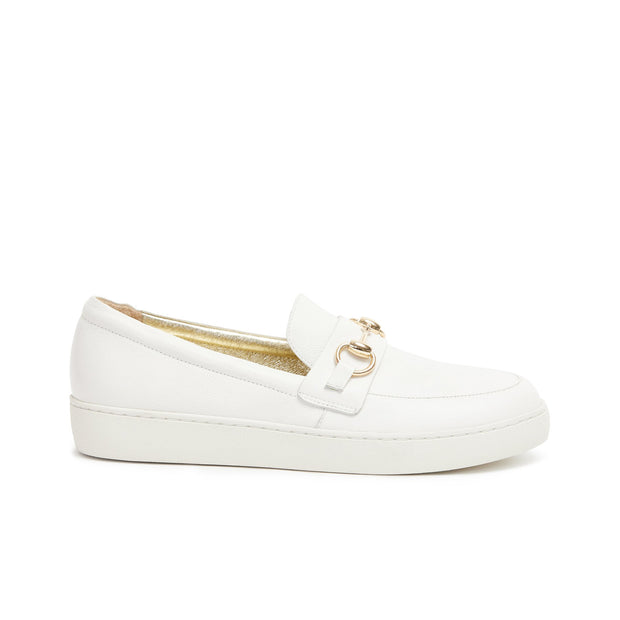 Sasha Loafer - White Pebble | Shop Miss Wilson at IKON Arrowtown NZ