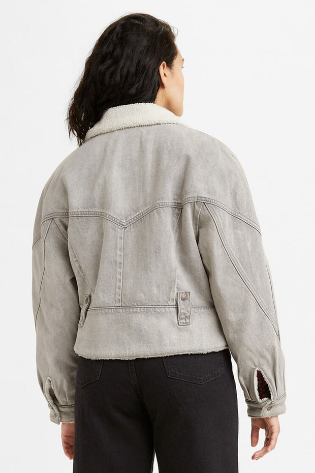 Romantic Biker Jacket - Mostly Cloudy