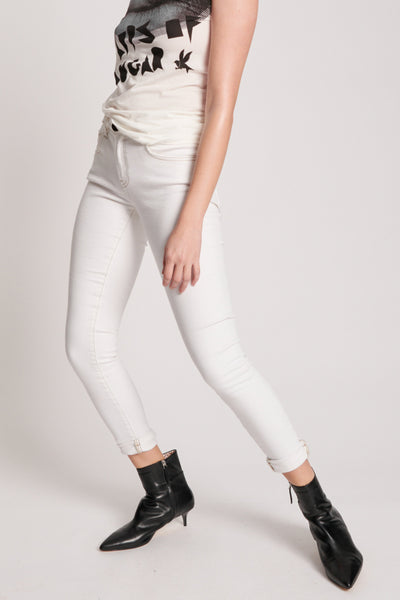 Freebirds II High Waisted Jeans - White | Shop OneTeaspoon at IKON NZ