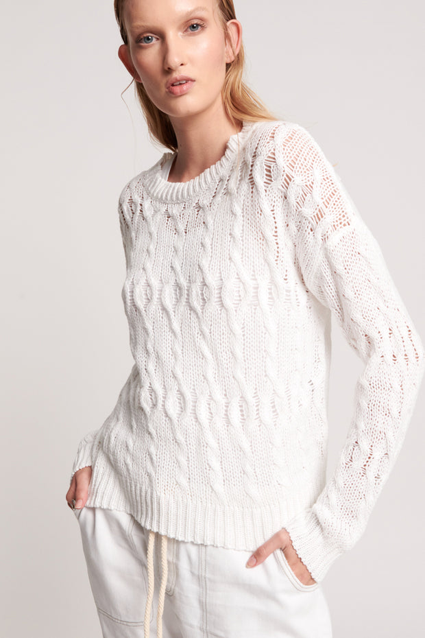 Cactus Cable Knit - White | Shop OneTeaspoon at IKON NZ
