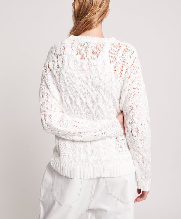 Cactus Cable Knit - White