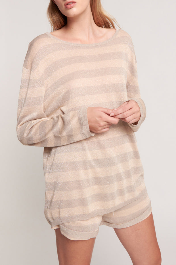 New Mexico Knit Sweater - Silver/Gold | Shop OneTeaspoon at IKON NZ