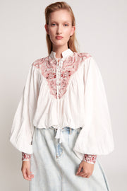 Desert Floral Embroidered Gypsy Top - White | Shop OneTeaspoon at IKON NZ