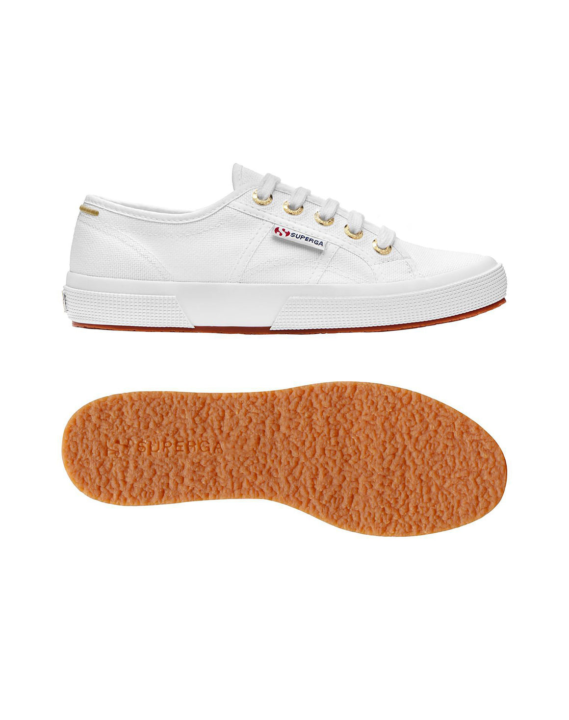 Superga Womens 2750 Cotu - White/Gold