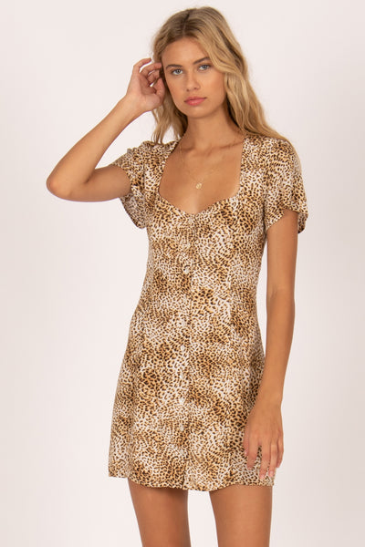Iman S/S Woven Dress Natural