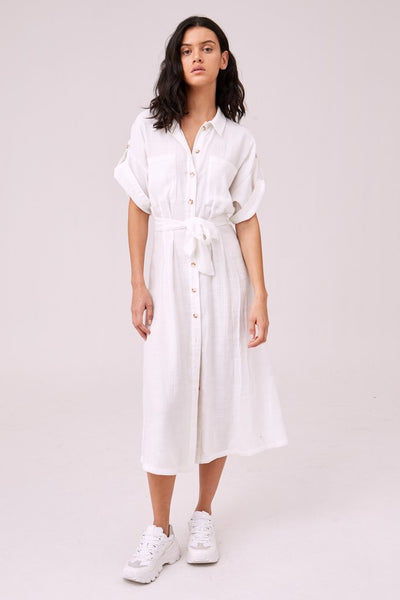 Portraiture Long Sleeve Dress - Ivory | Shop The Fifth Label at IKON in Arrowtown, NZ