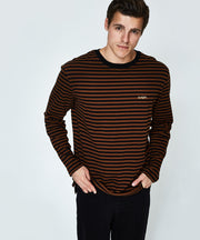 Mens Charlie Stripe LS Tee - Brown | Shop Insight at IKON in Arrowtown