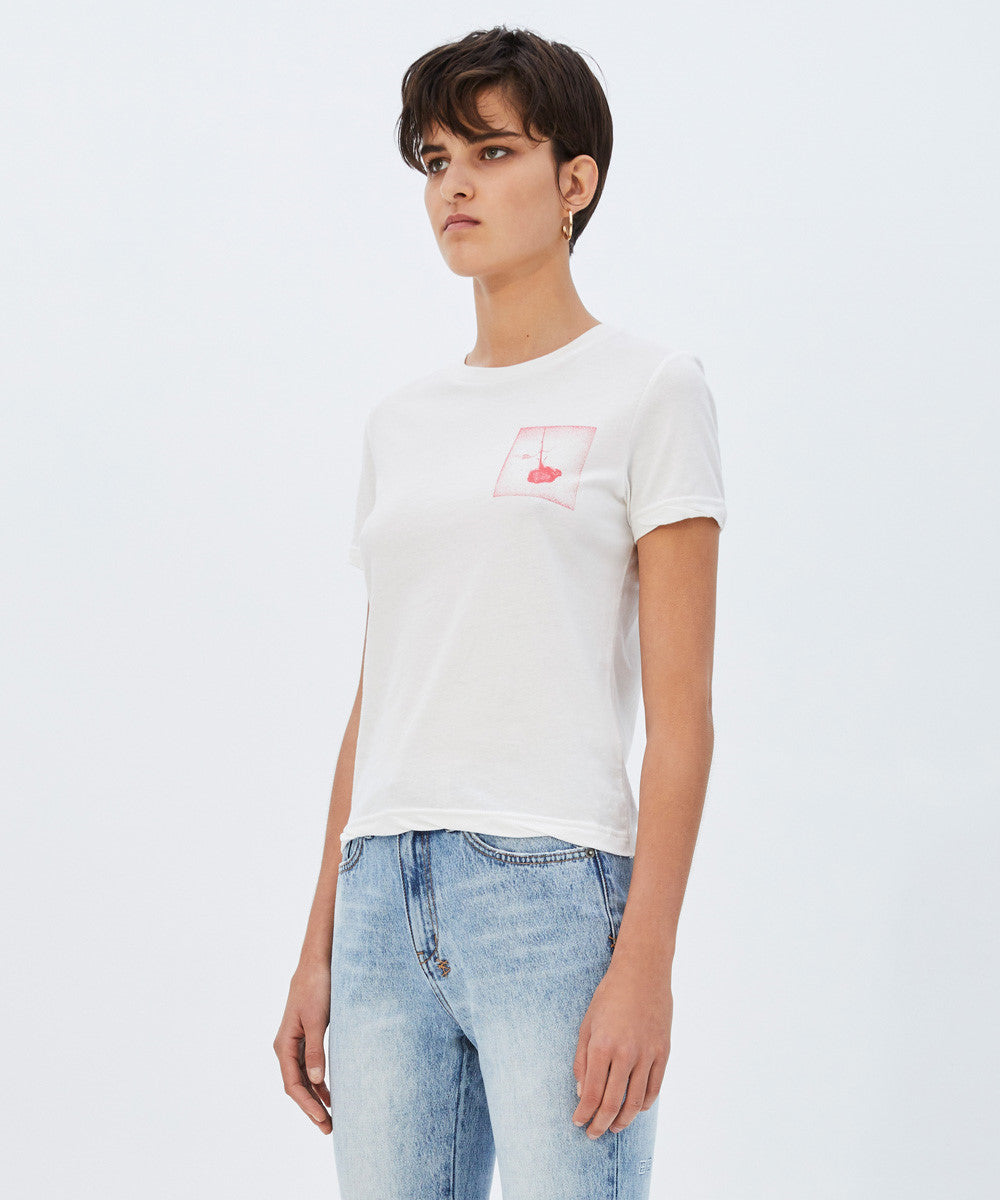 Womens Opposite of Opposite Tee - White | Shop Ksubi Online at IKON
