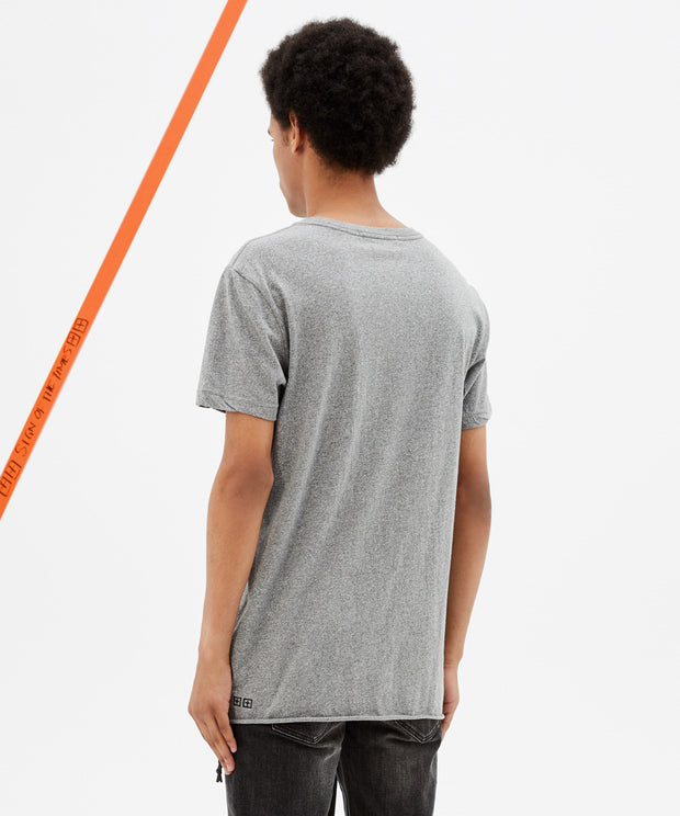 Ksubi Mens Fancy Dollar SS Tee - Grey Marl
