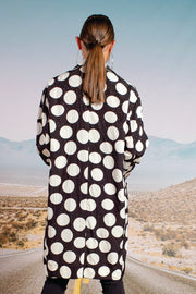 Cooper Duster Rhymes Coat - Black/Whte Spot | Shop Cooper at IKON