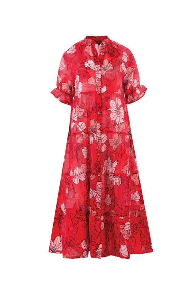 Cooper Play By Tier Dress - Red Pink Floral
